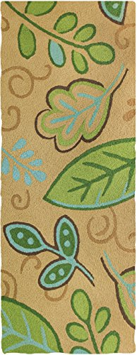 Jellybean GREEN LEAVES Indoor/Outdoor Rug