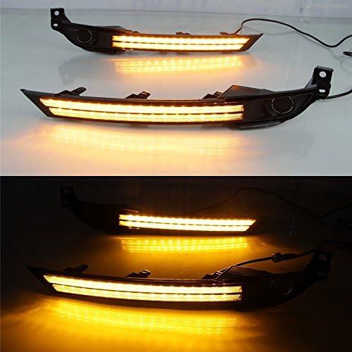 amarillo Streamer luces de se/ñalizaci/ón LED parachoques delantero DRL July King Luces diurnas LED DRL-M-CX-5-2017-III para CX-5 CX-8 2017 2018 2019 Sin la versi/ón de la l/ámpara antiniebla
