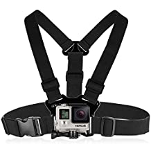 Fosmon Smartphone Chest Mount, Adjustable GoPro Center Chest Harness Straps Holder for GoPro HERO, Apple iPhone, Samsung Galaxy, Motorola, HTC, Google Pixel, LG & More (Black)