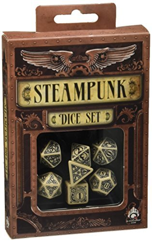 Steampunk Dice Beige/Black (7 Stk.) Board Game [並行輸入品] B07SDBVDKW