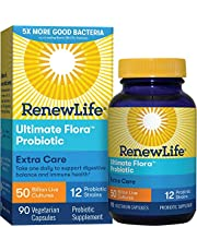 [US Deal] Save on Renew Life - Ultimate Flora Probiotic Extra Care - 50 billion - daily digestive and immune health supplement - 90 vegetable capsules. Discount applied in price displayed.