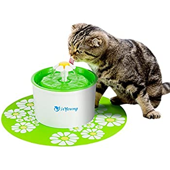 Cat Fountain isYoung Pet Fountain Automatic Pet Water Dispenser, Pet Health Caring Fountain for Cat and Small Dog/Animals