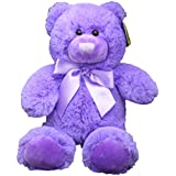 Anico Plush Toy Bright Bear, Stuffed Animal, Purple, 8 Inches Tall
