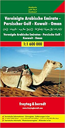 United Arab Emirates and Oman Road Map Freytag Berndt Road Map