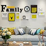 Home@Wall photo frame Modern Sofa Background Photo Frame Sets Of 8 , Living Room Bedroom Hanging Paintings Aisle Corridor Photo Frame Combination ( Color : C , Size : 8frames/23386CM )