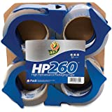Duck Brand HP260 High Performance 3.1 Mil Packaging Tape, 1.88-Inch x 60-Yard, Crystal Clear, 4-Pack with Dispensers (847667)