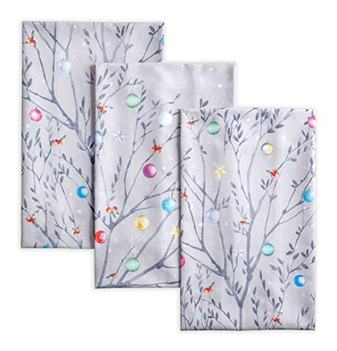 Maison d' Hermine Fairy Christmas 100% Cotton Set of 3 Kitchen Towels 20 Inch by 27.5 Inch.