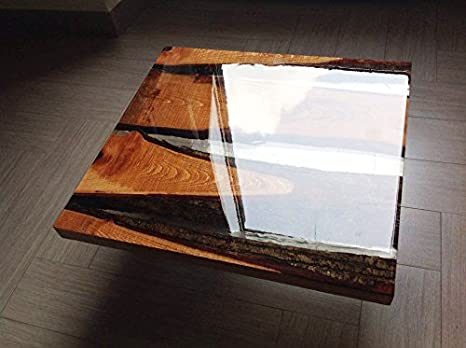Tavolini In Legno Fai Da Te : Tavolino da caffe in legno e resina epossidica atossica di design