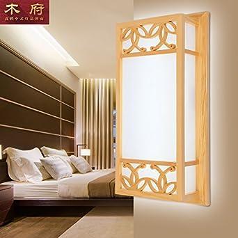 TYDXSD Moderne Neue Chinesische Mauer Lampe Holz Farbe Solide  Korea Japan Korridor Der Flur