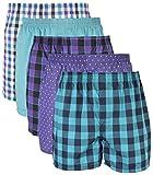 Gildan Men's Woven Boxer Underwear Multipack, Mixed Purple, Medium