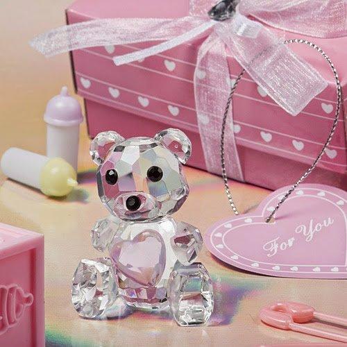 200 Choice Crystal Collection Teddy Bear Figurines - Pink