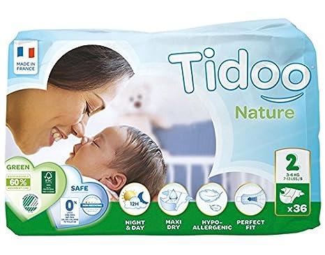 Tidoo Couches Jetables Ecologiques Mini Nuit Et Jour 3 6 Kg Taille 2