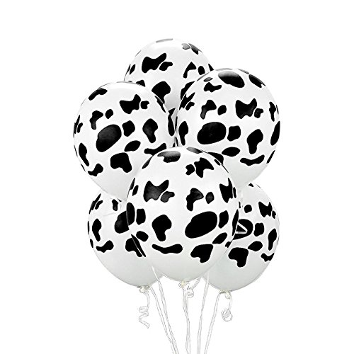 18 Pieces Cow Print Balloons for Party Wedding Decorations, 12 Inch (Cow)]()