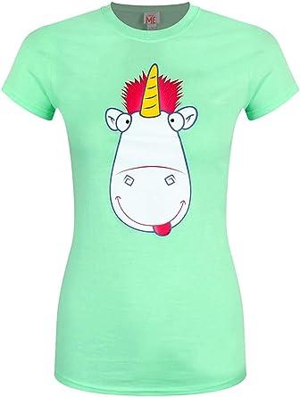 GRU, mi Villano Favorito - Lengua & Mejilla Unicornio - Camiseta Oficial Mujer: Amazon.es: Ropa y accesorios