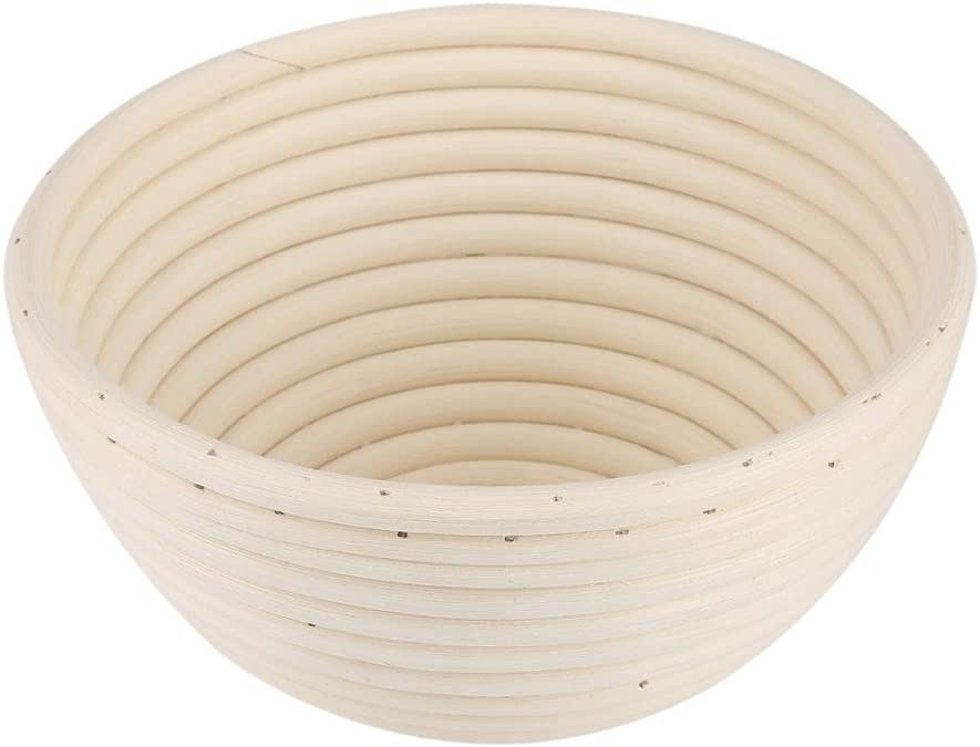 Round Banneton Bread Proofing Basket Perfect Proof Making Ciotola Handmake Bread Dough Rising Rattan Skep 18 * 9cm
