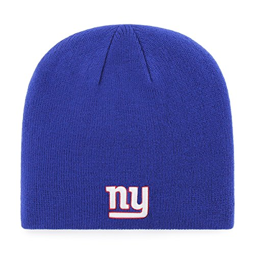 (NFL New York Giants Men's OTS Beanie Knit Cap, Team Color, One Size)
