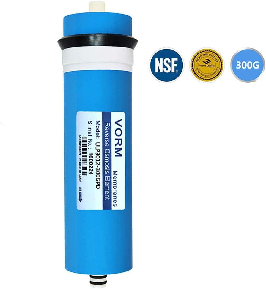 CHJ Elemento de Membrana de Ósmosis Inversa 3012-300G Filtro Purificador de Agua Doméstico para Eliminar El 96% de Los Contaminantes en El Agua: Amazon.es: Hogar
