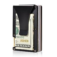 Aluminum Slim Wallet Front Pocket Wallet & Money Clip Minimalist Wallet RFID Blocking