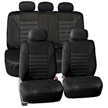 FH Group FB068BLACK115 Black Universal Car Seat Cover (Premium 3D Air mesh Design Airbag and Rear Split Bench Compatible)