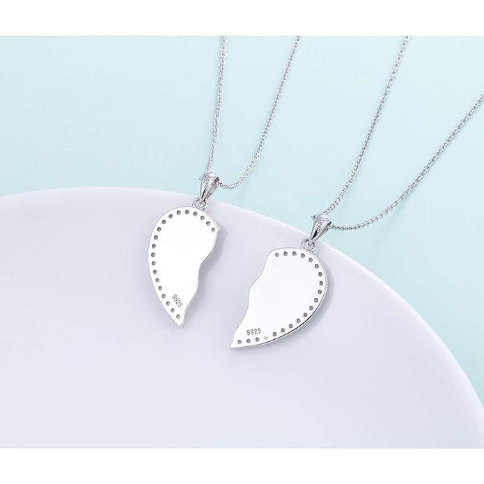 Amazon.com: Juego de 2 collares de plata de ley 925 con ...
