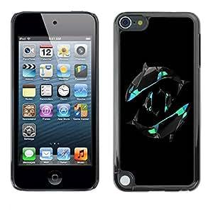 Paccase / SLIM PC / Aliminium Casa Carcasa Funda Case Cover para - Yin Yang Orca Whales - Apple iPod Touch 5