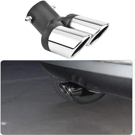 1 Stücke Universal Auto Modifikation Gegrillte Schwarz Edelstahl 1to2 Dual Pipe Auspuff Tip Schalldämpfer Abdeckung Auto
