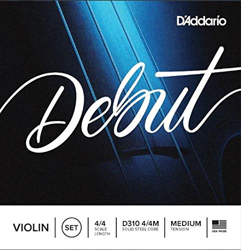 D'Addario Debut Violin String Set, 4/4 Scale, Medium Tension product image