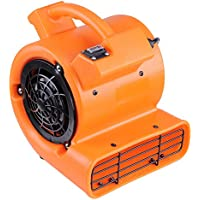 Yescom 1/12 HP 349 CFM Air Mover Floor Dryer Blower Fan for Floor Carpet Orange