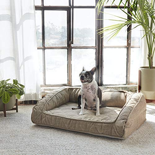 Brentwood Home Runyon Orthopedic Pet Bed, Puppy Dog Couch, Washable Cover, Waterproof Liner, Non-Toxic, Memory Foam Sofa for Dogs and Cats, Made in California