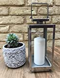 Home Deco London LTD Stainless Steel Hanging Candle Lantern Floor Centerpiece Metal Classic Vintage