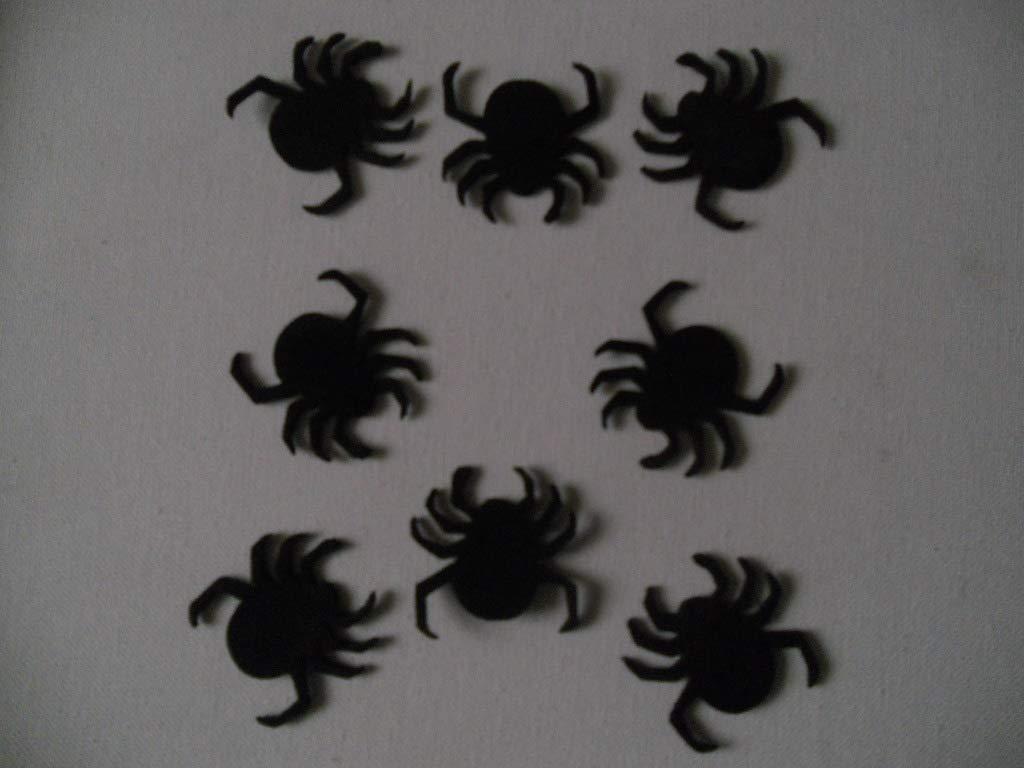 8 Arañas para decorar en halloween de goma eva de color negro 8,5 x 4,4 cm Silvys