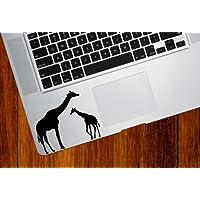 Yadda-Yadda Design Co. Giraffe Mom and Baby - Trackpad/Keyboard - Vinyl Decal
