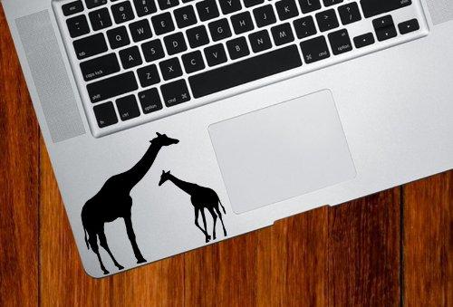 [Giraffe Mom and Baby - Trackpad / Keyboard - Vinyl Decal] (Giraffe Decal)