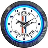 Neonetics Ford Mustang Blue Neon Wall Clock, 15-Inch