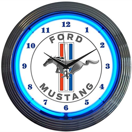 Neonetics Ford Mustang Blue Neon Wall Clock, ()