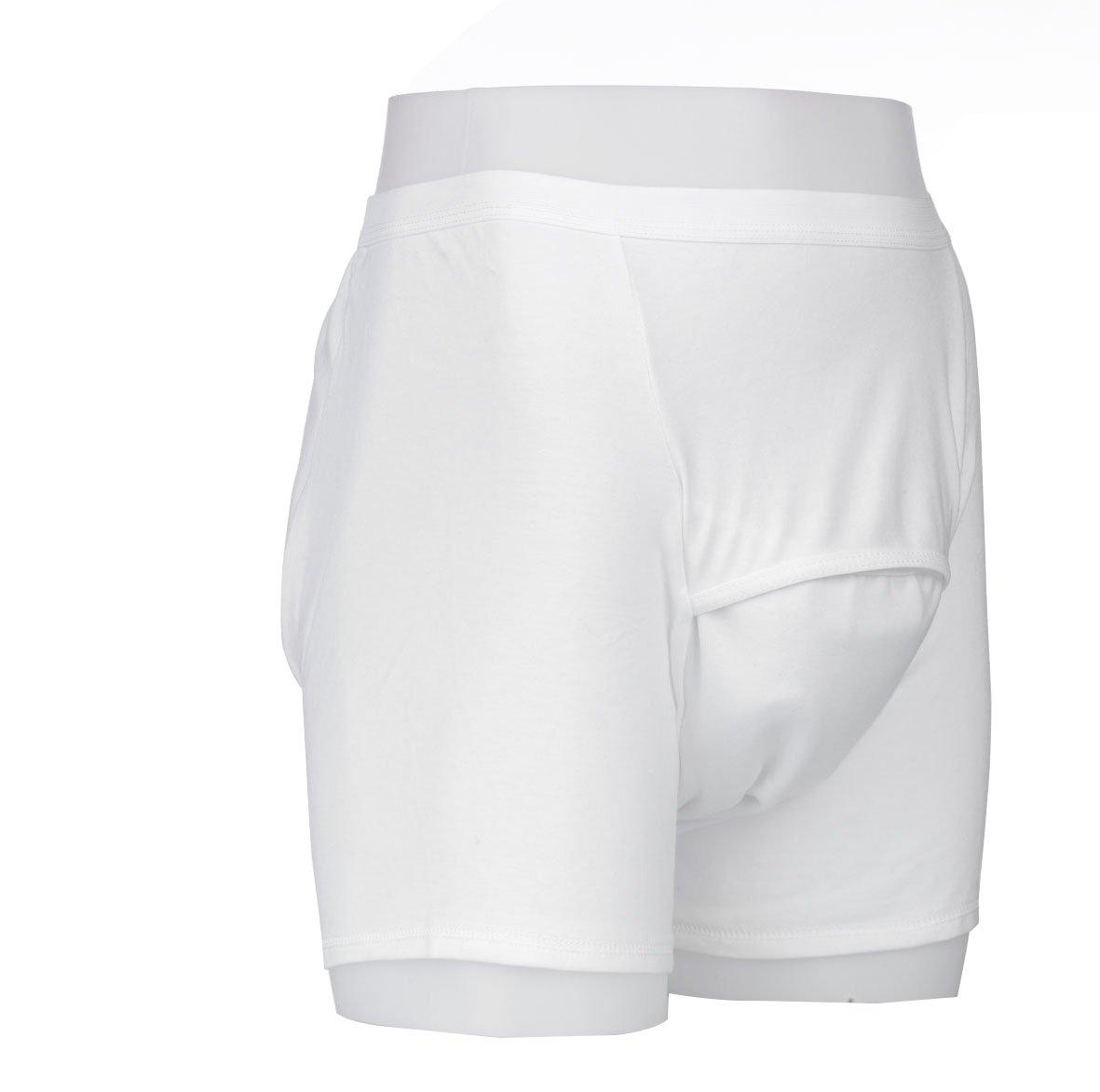Kylie Boxer pantalones cortos ropa interior de incontinencia (lavables y absorbentes, color blanco, tamaño mediano: Amazon.es: Salud y cuidado personal