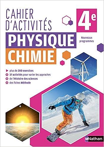 Cahier De Physique Chimie 4e Amazon Fr Nicolas Coppens Livres