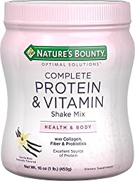 Nature\'s Bounty Optimal Solutions Protein Shake Vanilla, 16 ounces