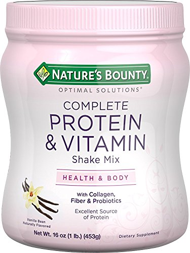 Nature's Bounty Optimal Solutions Protein Shake Vanilla, 16 ounces