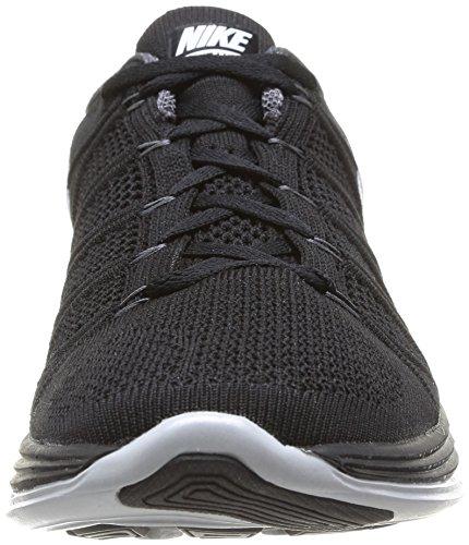 Nike 620465 011 Flyknit Lunar2 Scarpe Da Uomo Di Sport - In Esecuzione Multi-color (nero / Bianco / Grigio Scuro)