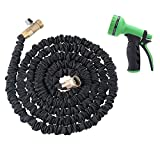 AOLVO Expandable Hose, Flexible Garden Pipe 25ft/50ft/75ft/100ft With 8-Pattern Spray Nozzle For Car Washing,Garden Watering,Home Cleaning,Pets Washing