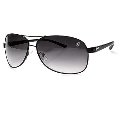 28a3459111f7 Amazon.com  Classic Retro Mens Fashion Metal Aviators Vintage Designer  Sunglasses Black New  Clothing