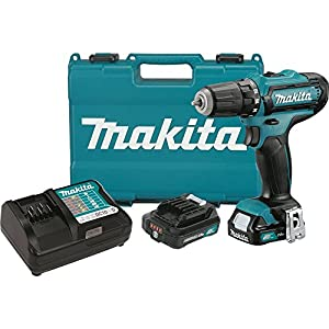 "Makita FD05R1 12V Max CXT Lithium-Ion Cordless Driver-Drill Kit, 3/8"""