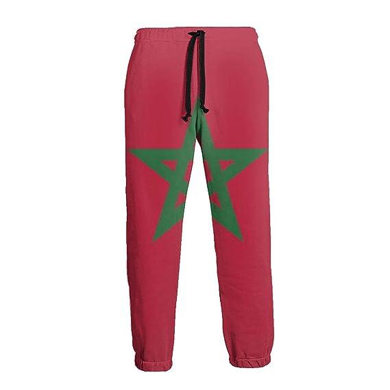 Ye Hua Pantalones Deportivos de Bandera de Marruecos para Hombres ...