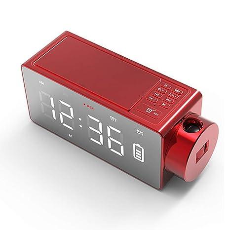 LHY FAN Reloj de Proyección, Digital Despertador DIY ...