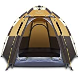 Toogh 3-4 Person Camping Tent Backpacking Tents Hexagon Waterproof Dome Automatic Pop-Up Outdoor Sports Tent