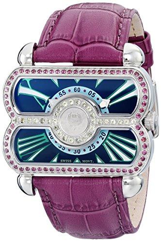 Brillier Women's 24-02 Pl Analog Display Swiss Quartz Purple - Pl Swiss Watch