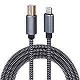 Lightning to MIDI Cable USB OTG Type B Cable for Select iPhone, iPad Models for Midi Controller, Electronic Music Instrument, Midi Keyboard, Recording Audio Interface, USB Microphone (6FT)
