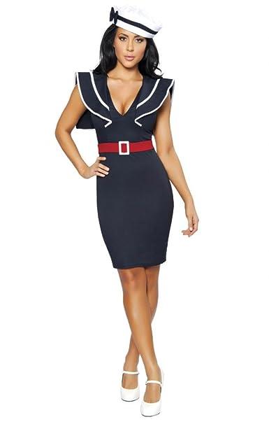 Amazon.com: Sassy Bettie Pin Up Sailor Girl Halloween ...