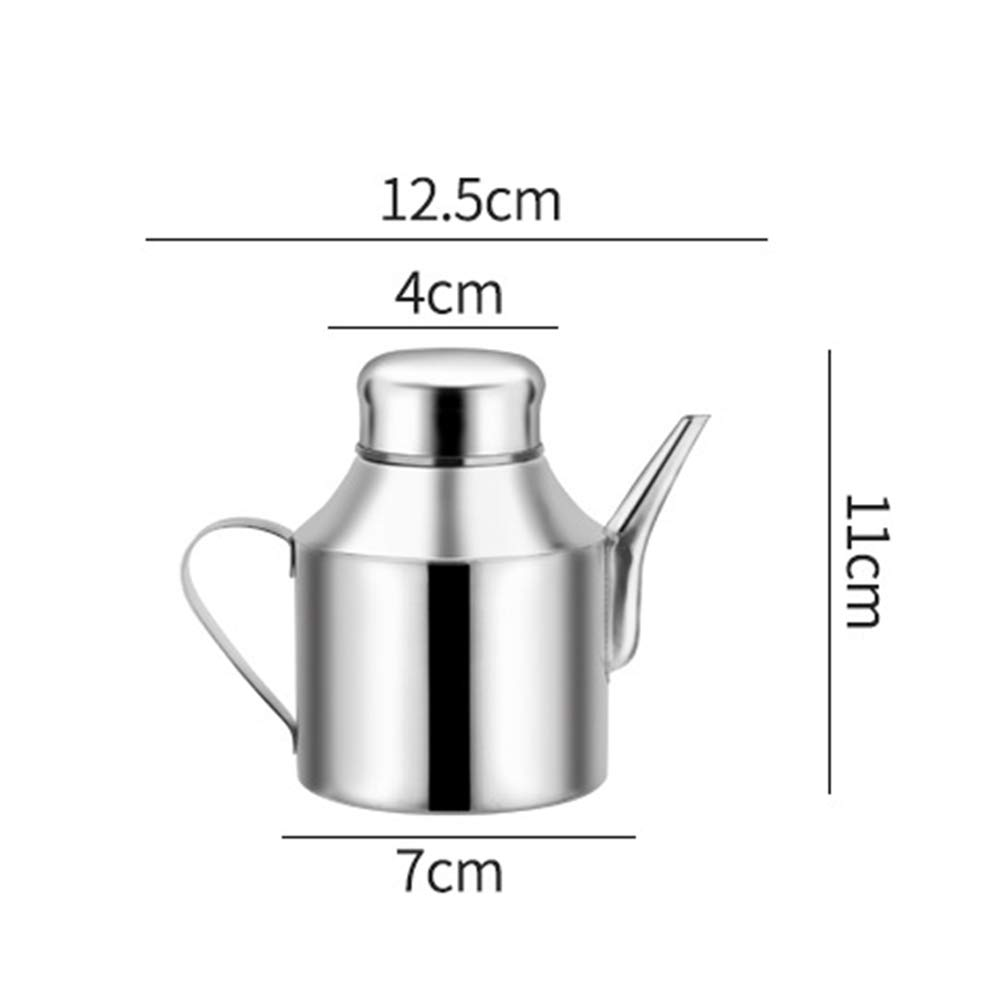 ROKF Stainless Steel Oil Dispenser,Leak Proof Vinegar Container Bottles Oil Dispenser Pot with Lid /& Spout for Kitchen Cooking Oil Jar Cruet Storage containers